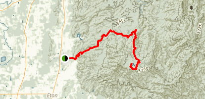 Forest Road 630 to Lake Conasauga Map