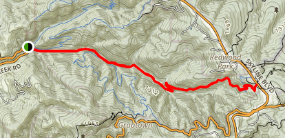 Purisma Creek Trail to Skyline Blvd Map
