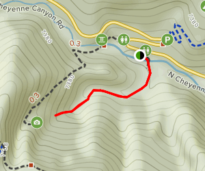 Lower Silver Cascade Falls Trail Map