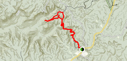 Pogue Creek Overlook and Upper Canyon Trails Map
