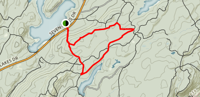Buck Trail to Pine Meadow Road Map