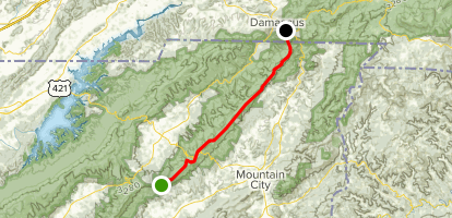Iron Mountain Trail South to North Map