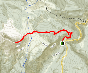 Coal Bank Pass to Engineer Mountain Summit Map