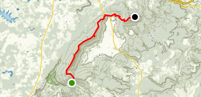 Cumberland Trail: Brady and Black Mountain Sections Map