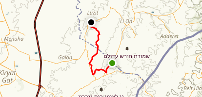 The Land of 1000 Caves Trail: Khurbet El-Ain to Ai-Kidon Map