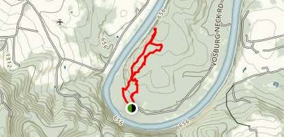 Hike to the Overlook at Endless Mountain Nature Center Map
