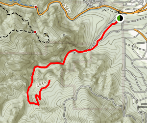 South Cheyenne Canyon & 7 Falls Map