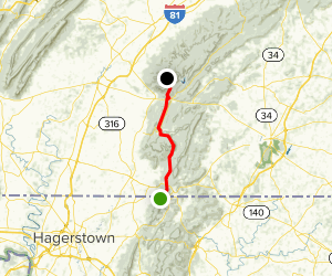 Appalachian Trail: Pen Mar to Ensign Cowell Shelter Map