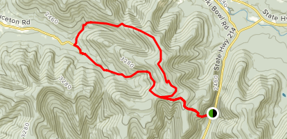 Devil's Path to Hunter Mountain Loop Map