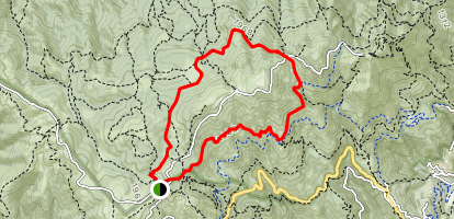 Rock Spring Trail to Benstein Trail Loop Map