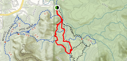 Twin Buttes and Broken Arrow Loop Map