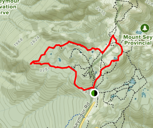Dog Mountain and Mount Seymour Loop Map