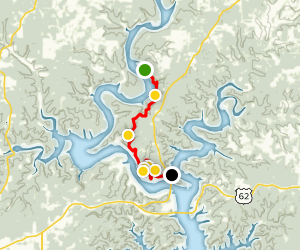 David's Trail: Red Bank to Bidwell Point  Map