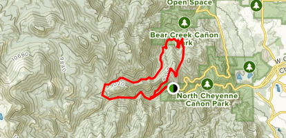 Kineo Mountain and Mount Buckhorn Loop Trail [CLOSED] Map
