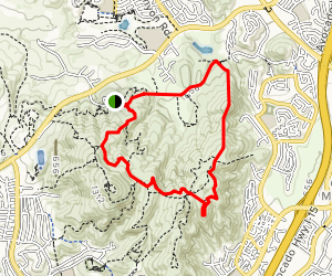 Black Mountain East Rim Trail to Miner's Ridge Map
