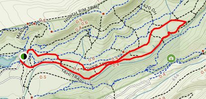 Middle Trail to Yahi Trail Loop Map