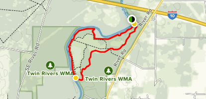 Two Rivers Anderson Spring Trail and Walker Trail Loop Map