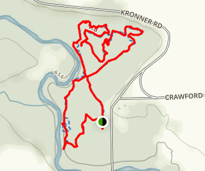 Columbus County Park Mountain Bike Loop Map