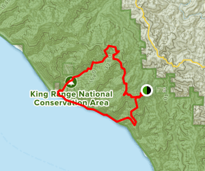 Lost Coast and Big Flat Creek via Kings Crest Map