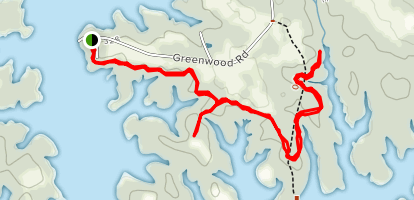 Robert Munford Trail from Greenwood Wildlife Management Area Map