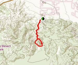 Harper Canyon Loop Map
