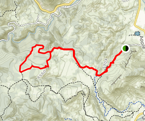 Antelope, Bitterbrush, Nelson Loop Map