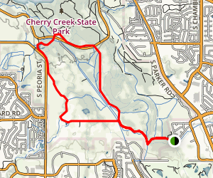 Piney Creek Trail to Cottonwood Creek and Cherry Creek Loop Map