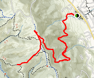 Pleasanton Ridge via Courdet Trail Map