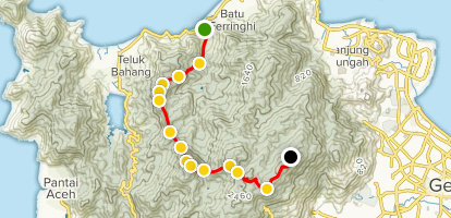 Laksamana Trail to Penang Hill Map