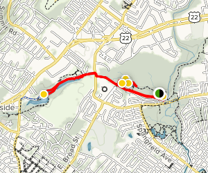 Lenape Park and to Lake Park Map