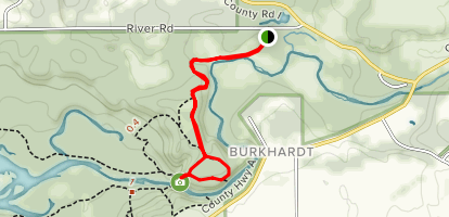 Burkhardt Trail to Willow Falls Overlook via Pink Trail Map