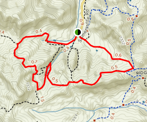 Stewartville, Ridge, Chaparral, Black Diamond and Nortonville Trail Loop Map