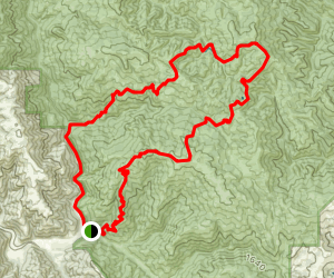 Kelly Lake Loop: Jim Donnely to Bear Gulch Map