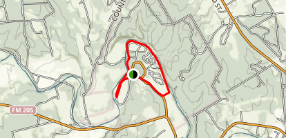 Equestrian, Blue Hole and Limestone Ledge Loop Map