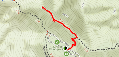 Juniper Campground To Moses Rock  Map
