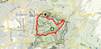 Anstey Hill: Yellow-Tail Loop Map