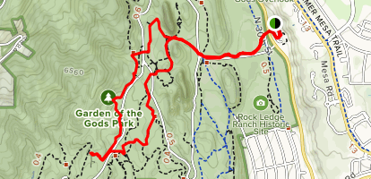 Gateway Trail to Palmer Trail and Scotsman Trail Loop Map