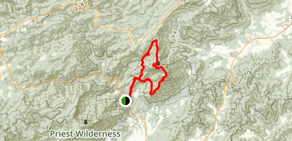 Three Ridges Loop via Appalachian Trail and Mau-Har Trail Map