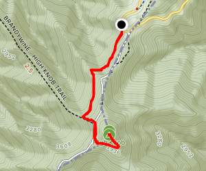 High Knob Tower Trail Map