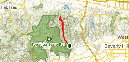 Sullivan Canyon Trail Map