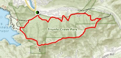 Triunfo Creek Park Loop Map