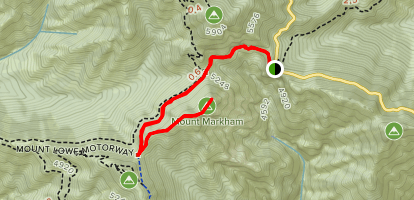 Mount Markham via Mount Lowe Trail Map