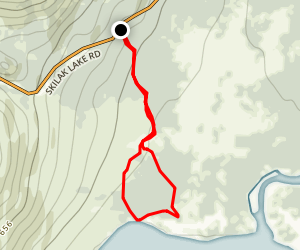 Hidden Creek Trail to Skilak Lake Map