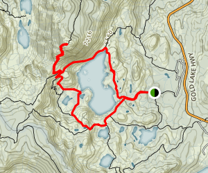 Long Lake and Mount Elwell Loop Trail Map
