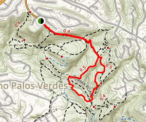 Ishibash, Toyen, Donor One and Paint Brush Trail Loop Map