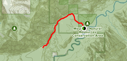 CCC Road Trail via Blowout Creek Trailhead Map