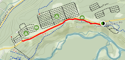 Tunnel Mountain Hoodoos Trail Map