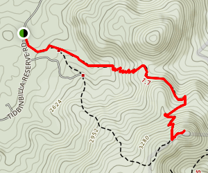 Gibraltar Peak Walking Trail Map
