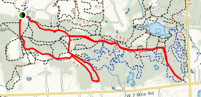 Maybury State Park Paved Trail Map