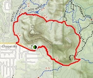 Chapel Trail to Broken Arrow Trail to Mystic Trail Loop Map